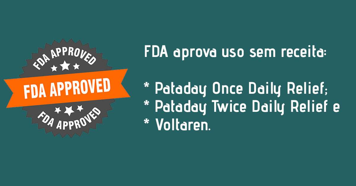 Voltaren, Pataday Twice Daily Relief e Pataday Once Daily Relief